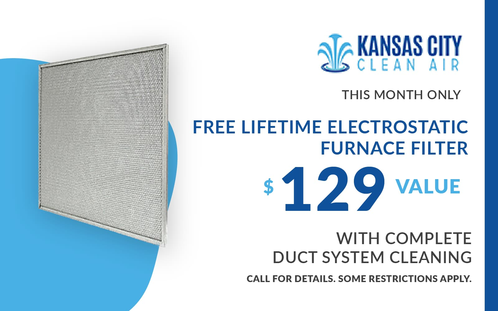 Furnace Filter Coupon with Duct Cleaning