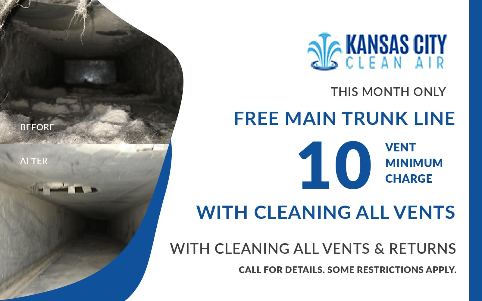 Coupon Free Main Trunk Link with Cleaning All Vents